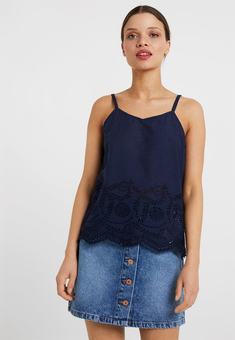 ONLY Petite - ONLSHERY ANGLAIS STRAP - Top - insignia blue