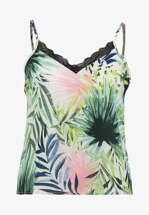ONLTROPICAL SINGLET - Linne - cloud dancer/tropical