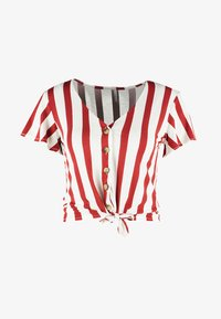 ONLY Petite - ONLFNICE KNOT - T-shirt con stampa - cloud dancer/ketchup - 4