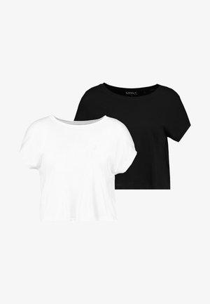 ONLRUSSY SHORT 2 PACK - Blouse - black/bright white