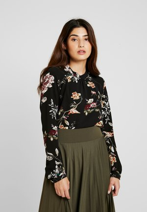 ONLNEW MALLORY  BLOUSE - Blusa - black/cd flower