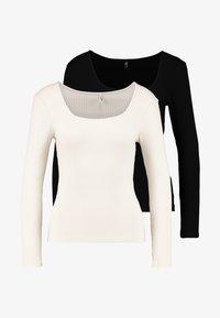 ONLY Petite - ONLSISLEY 2 PACK - Maglietta a manica lunga - pumice stone/black - 4