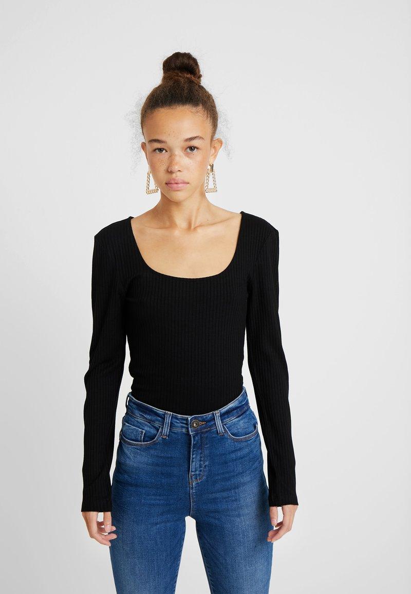 ONLY Petite - ONLSISLEY 2 PACK - Maglietta a manica lunga - pumice stone/black