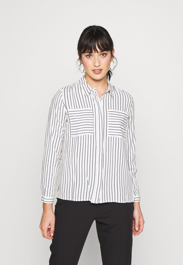 ONLFREYA - Button-down blouse - cloud dancer/black