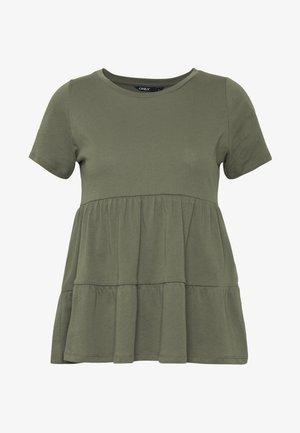ONLAYCA PEPLUM - T-shirt imprimé - kalamata