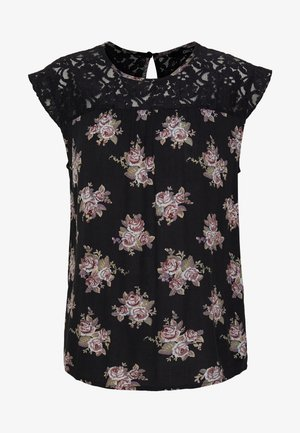 ONLEMMA KARMEN TOP  - Pusero - black/flower