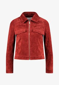 ONLY Petite - ONLLEAH SHORT JACKET - Giacca di pelle - ketchup - 4