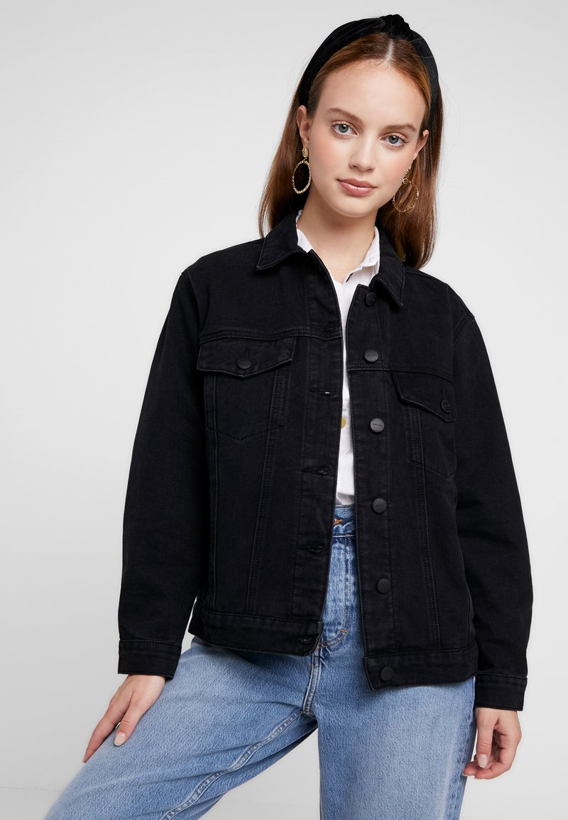 ONLY Petite - ONLCAROLINE JACKET - Denim jacket - black denim
