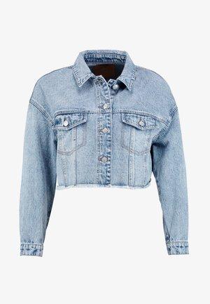 ONLBETTY CROP RAW EDGE  - Džínová bunda - medium blue denim
