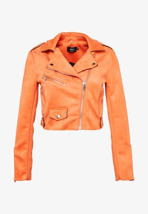 ONLSHERRY CROP  BOND BIKER - Faux leather jacket - tigerlily