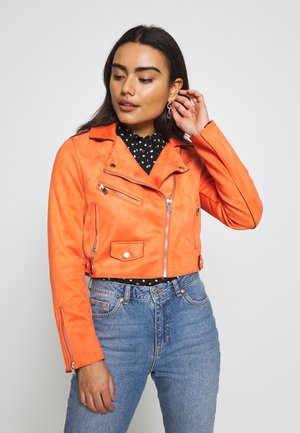 ONLSHERRY CROP  BOND BIKER - Veste en similicuir - tigerlily