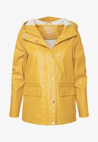 ONLY Petite - ONLTRAIN SHORT RAINCOAT - Parka - yolk yellow - 5
