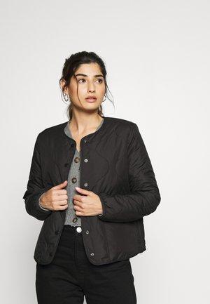 ONLJASMIN QUILTED JACKET - Light jacket - black