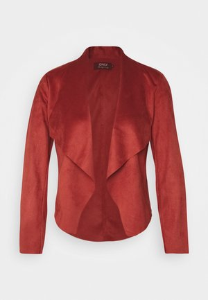 ONLFLEUR JACKET PETITE - Faux leather jacket - red ochre
