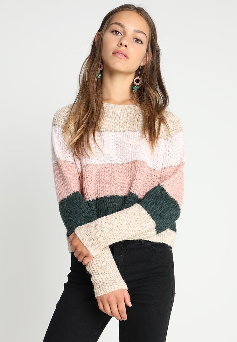 ONLY Petite - ONLMALONE STRIPE - Jumper - pumice stone