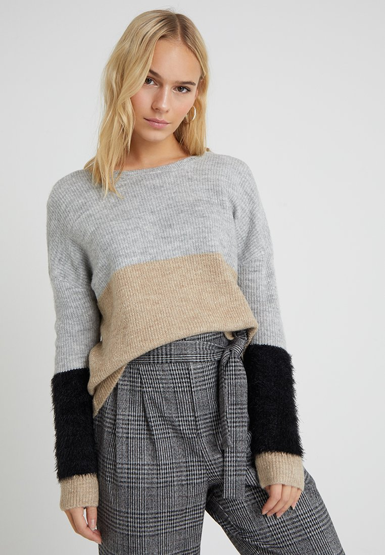 ONLY Petite - ONLSANTANA - Neule - light grey