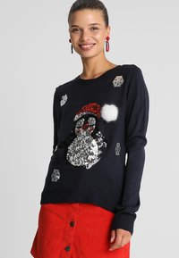 ONLY - ONLXMAS PENGUIN CHRISTMAS - Jumper - night sky/cloud dancer/black - 0