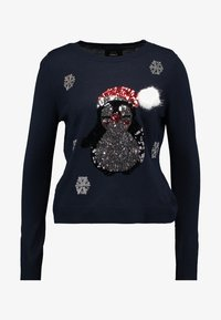 ONLY - ONLXMAS PENGUIN CHRISTMAS - Jumper - night sky/cloud dancer/black - 4