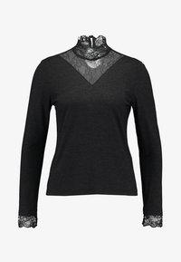 ONLY Petite - ONLWILMA MIX HIGHNECK  - Maglietta a manica lunga - dark grey melange - 5