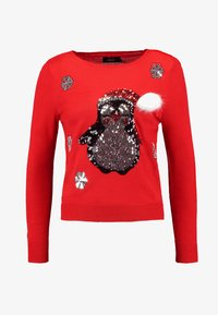 ONLY Petite - ONLX MAS PENGUIN - Jumper - goji berry - 3