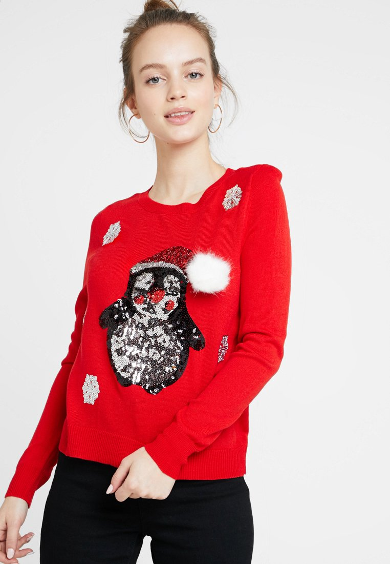 ONLY Petite - ONLX MAS PENGUIN - Jumper - goji berry