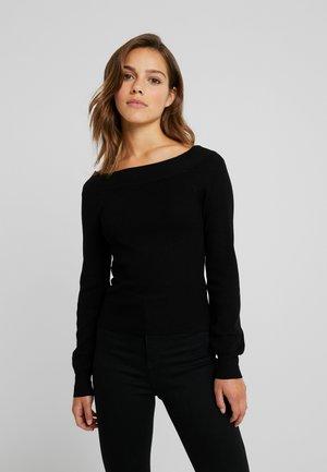 ONLIZA  WIDE NECK - Jersey de punto - black