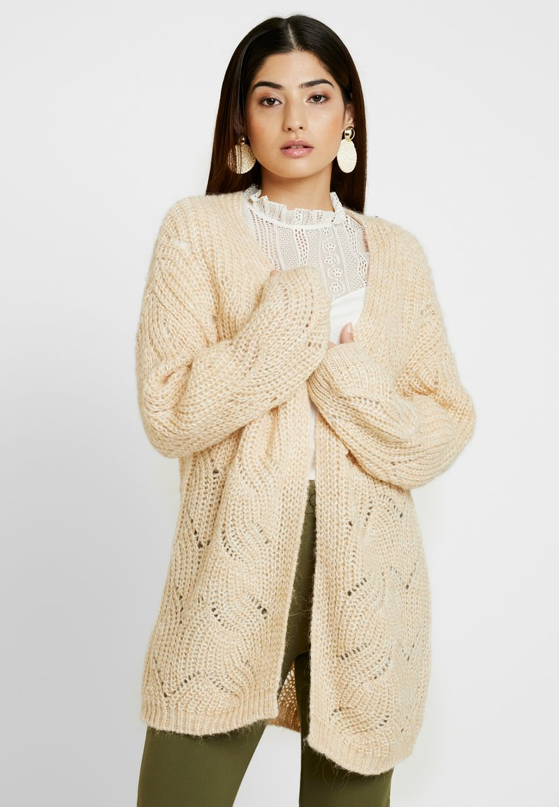 ONLY Petite - ONLHAVANA LONG CARD - Strickjacke - pumice stone melange