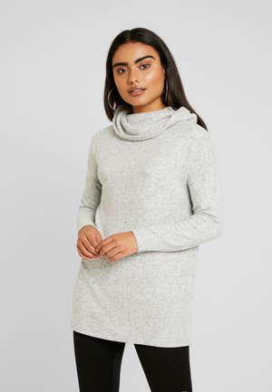 ONLKLEO ROLLNECK  - Pullover - light grey melange/black melange