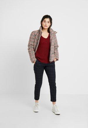 Pullover - merlot melange