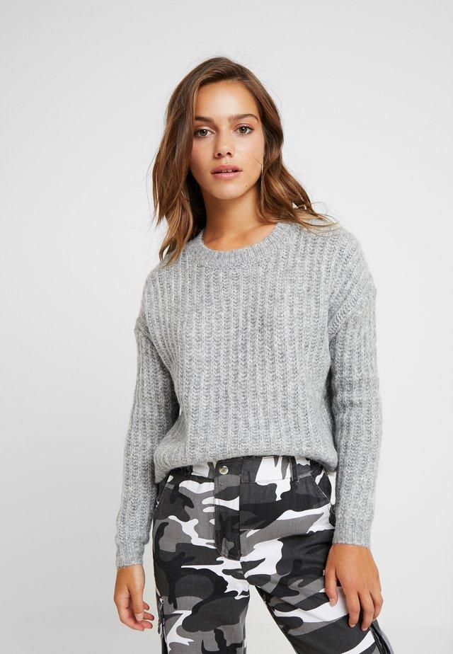 ONLCHUNKY - Stickad tröja - light grey melange/multi melange