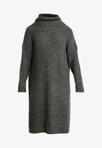 ONLY Petite - ONLMIRNA ROLLNECK DRESS - Strikket kjole - dark grey melange - 3