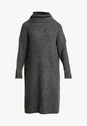 ONLMIRNA ROLLNECK DRESS - Strikkjoler - dark grey melange