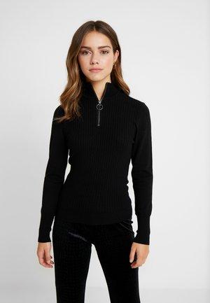 ONLTYRA ZIP  - Pullover - black