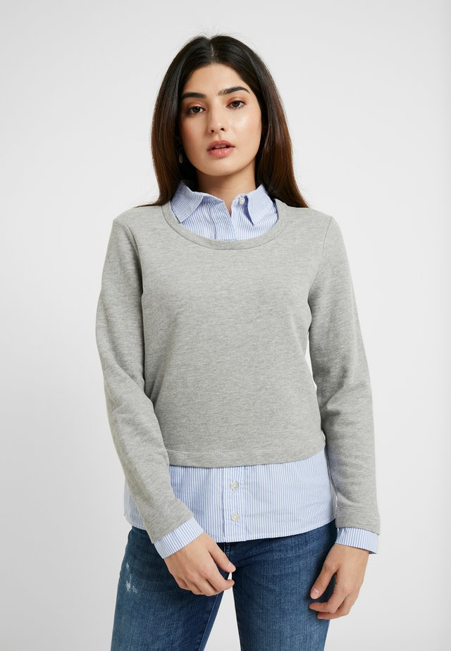 ONLFFALLY O-NECK - Sweatshirt - medium grey melange