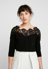 ONLY Petite - ONLALLY 3/4 SPRING - Strickpullover - black - 0