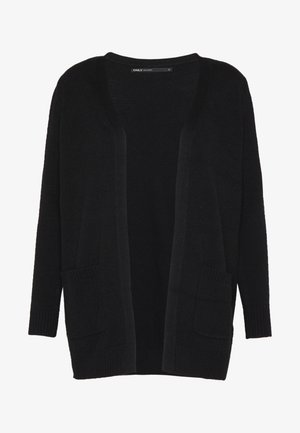 ONLLESLY OPEN CARDIGAN  - veste en sweat zippée - black
