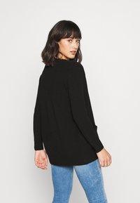 ONLY Petite - ONLLESLY OPEN CARDIGAN  - veste en sweat zippée - black - 2