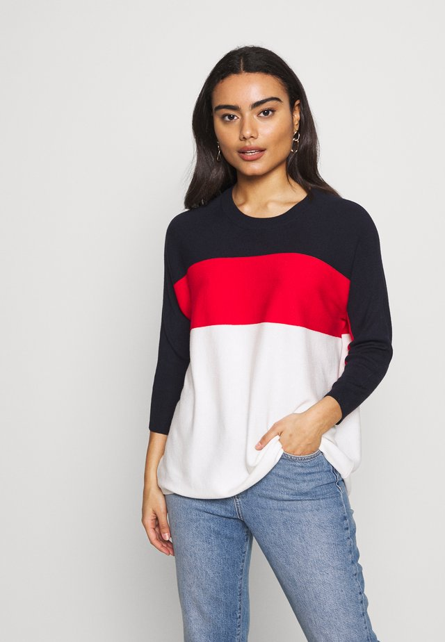ONLREGITZE 3/4 PULLOVER PETIT  - Neule - night sky/high risk red/cloud dance