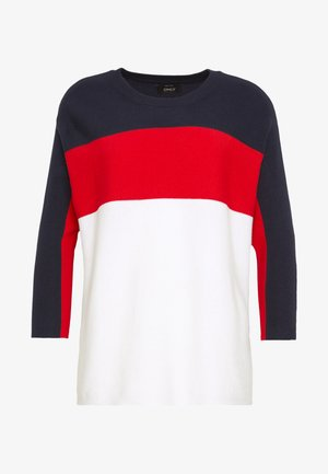 ONLREGITZE 3/4 PULLOVER PETIT  - Svetr - night sky/high risk red/cloud dance