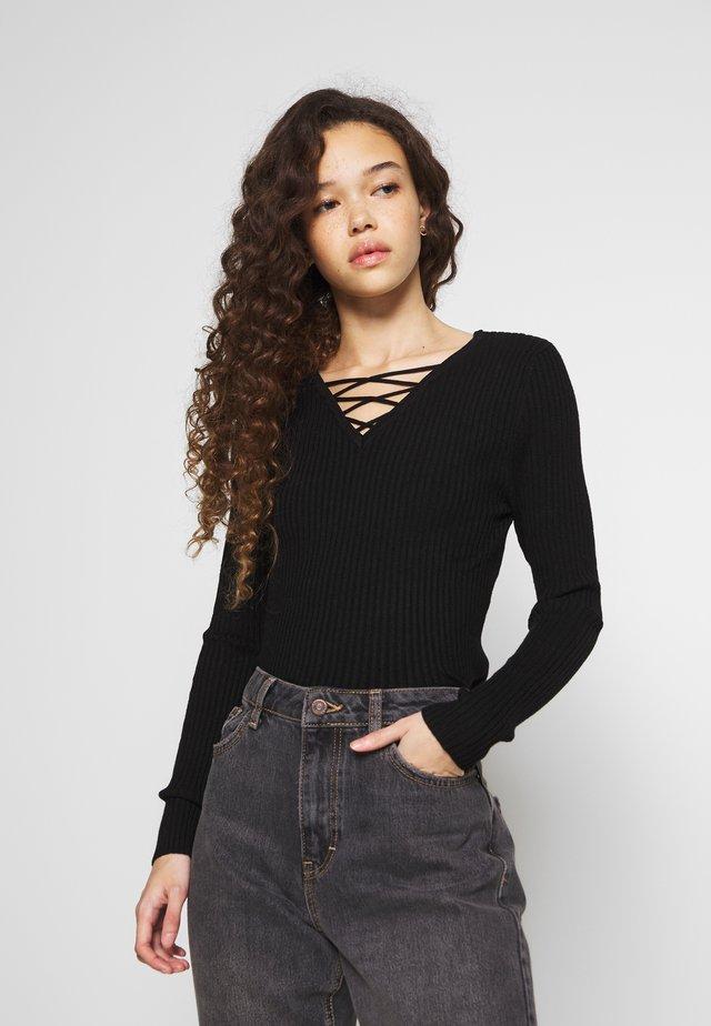 ONLSTRING - Sweter - black