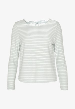 ONLELLY STRIPE BOW - Pullover - frosty green/cloud dancer