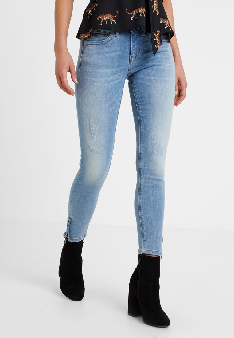 ONLY Petite - ONLKENDELL ZIP - Jeans Skinny Fit - light blue denim