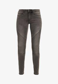 ONLY Petite - ONLROYAL BIKER PET - Skinny-Farkut - dark grey denim - 5