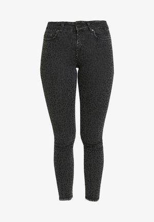ONLBLUSH MID LEO - Jeans Skinny Fit - black