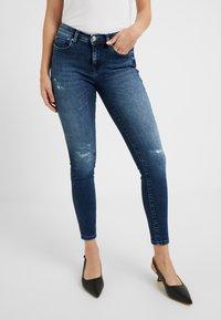 ONLY Petite - ONLFSHAPE - Jeans Skinny Fit - dark blue denim - 0