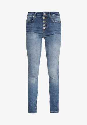 ONLBLUSH BUTTON - Skinny džíny - medium blue denim