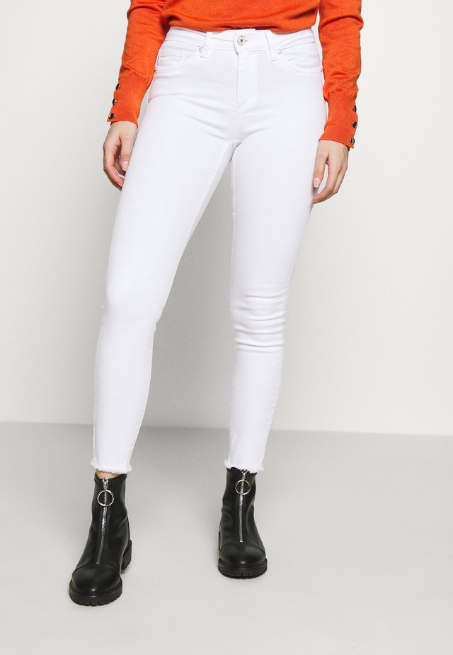 ONLBLUSH MID RAW - Jeans Skinny - white
