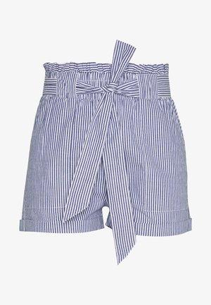 ONLSMILLA STRIPE BELT - Shorts - medium blue/white