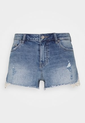 ONLCARMEN LIFE - Shorts di jeans - dark blue denim