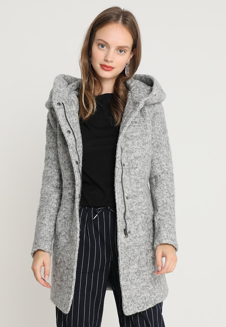 ONLY Petite - ONLSEDONA COAT - Short coat - light grey melange